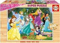 """Принцесите на Дисни - Пъзел с дървени елементи от серията """"Принцесите на Дисни"""" - пъзел"""