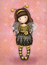 """Поздравителна картичка - Bee Loved - От серията """"Gorjuss"""" -"""