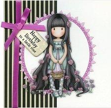 """Поздравителна картичка - Happy Birthday To a Little Rose - От серията """"Gorjuss"""" -"""