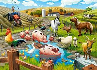 """Животните във фермата - Пъзел от серията """"Castorland: Premium"""" -"""