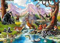 """Горски животни - Пъзел от серията """"Castorland: Premium"""" - пъзел"""