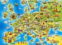"""Карта на Европа - Пъзел от серията """"Castorland: Premium"""" - пъзел"""