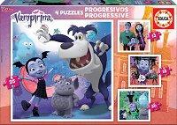 """Вампирина - 4 пъзела от серията """"Progressive Puzzles"""" -"""