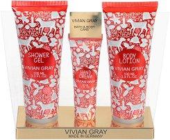 Vivian Gray Red Christmas Bath & Body Care - Подаръчен комплект с козметика за тяло -