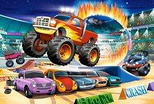 """Трикове с чудовищен пикап - Пъзел с едри елементи от серията """"Castorland: Premium Kids"""" -"""