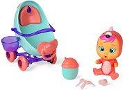 Cry Babies: Magic tears -  Фенси с магическа количка - Плачеща мини кукла бебе с аксесоари - играчка