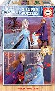"""Замръзналото кралство 2 - 2 пъзела с дървени елементи от серията """"Замръзналото кралство"""" -"""
