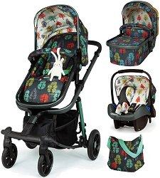 Бебешка количка 3 в 1 - Giggle Quad - С 4 колела -