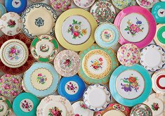 Шарени чинии -