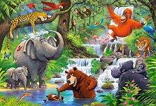 """Животните в джунглата - Пъзел с едри елементи от серията """"Castorland: Premium Kids"""" - пъзел"""