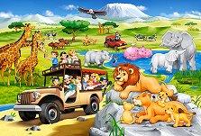 """Сафари - Пъзел с едри елементи от серията """"Castorland: Premium Kids"""" -"""