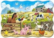 """Животните във фермата - Пъзел с едри елементи от серията """"Castorland: Premium Kids"""" - пъзел"""