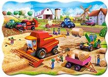 """Работа във фермата - Пъзел с едри елементи от серията """"Castorland: Premium Kids"""" - пъзел"""