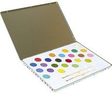 Акварелни бои - Комплект от 24 цвята и 2 четки