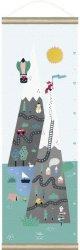 Ръстомер - Планина - Детски метър за измерване на височина от 70 cm до 130 cm -