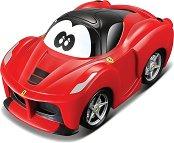 """Количка с обратен завой - Ferrari - Играчка с pull-back механизъм от серията """"Junior"""" - играчка"""