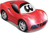 """Количка - Ferrari ECO Drivers - Детска количка с pull-back механизъм и светлинни ефекти от серията """"Junior"""" - раница"""