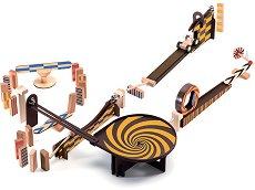 Детски дървен конструктор - Zig and Go - Комплект от 45 елемента -