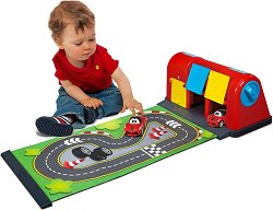 """Преносима писта с количка - Ferrari - Детски играчки от серията """"Junior"""" -"""