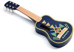 Китара - Animambo - Детски дървен музикален инструмент -