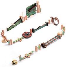 Детски дървен конструктор - Zig and Go - Комплект от 48 елемента -