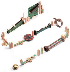 Детски дървен конструктор - Zig & Go - Комплект от 48 елемента -