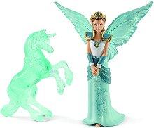 """Ейела и леден еднорог - Комплект фигури от серията """"Илорис"""" -"""