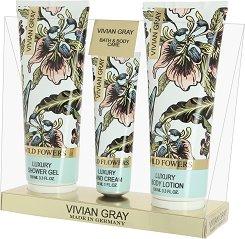 Vivian Gray Wild Flowers Bath & Body Care - Подаръчен комплект с козметика за тяло - шампоан