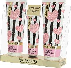 Vivian Gray Love Bomb Bath & Body Care - Подаръчен комплект с козметика за тяло -