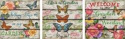 Цветя и пеперуди - 3 пъзела - пъзел