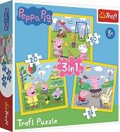 Пепа Пиг - Един страхотен ден - 3 пъзела в кутия - пъзел