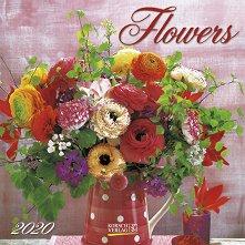 Стенен календар - Flowers 2020 -