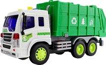 Камион за боклук - Детска играчка със светлинен и звуков ефект - играчка