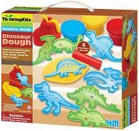 """Пластилин - Динозаври - Образователен комплект от серията """"Thinking Kits"""" - играчка"""