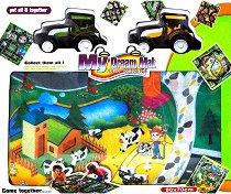 Килимче за игра - Ферма - Детски комплект за игра с 2 трактора -