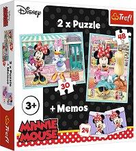 """Мини Маус  - 3 в 1 - Комплект от 2 пъзела и мемо игра от серията """"Мики Маус"""" - пъзел"""