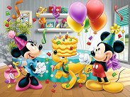 """Рожденният ден на Мини Маус - Пъзел от серията """"Мики Маус"""" - несесер"""