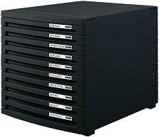 Кутия за документи с 10 чекмеджета - Contur