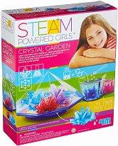 Градина от кристали - Образователен комплект от серията Steam Powered Kids - играчка