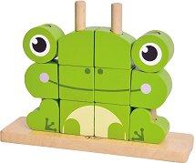 Кубчета за нанизване - Жабче - Детска играчка за нанизване -