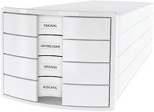 Кутия за документи с 4 чекмеджета - Impuls - С размери 29.4 / 23.5 / 36.8 cm