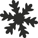 Пънч - Снежинка - Размер на щанцата L