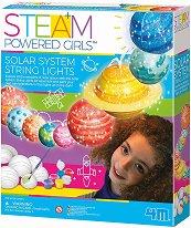 Светеща Слънчева система - Образователен комплект от серията Steam Powered Kids - творчески комплект