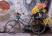 Велосипед с цветя - пъзел