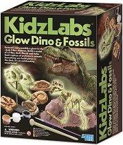 """Светещи динозаври и фосили - Детски образователен комплект от серията """"Kidz Labs"""" - играчка"""