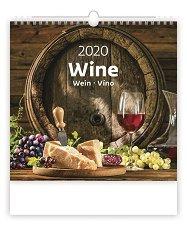 Стенен календар - Wine 2020 -