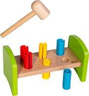 Чукче с наковалня - Дървена детска играчка -