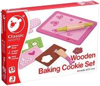 Кухненски комплект за сладки - Детски дървен комплект -