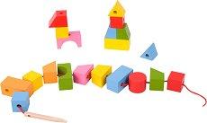 Геометрични фигури - Дървени фигури за нанизване -