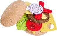 Бургер за игра - Детска текстилна играчка -